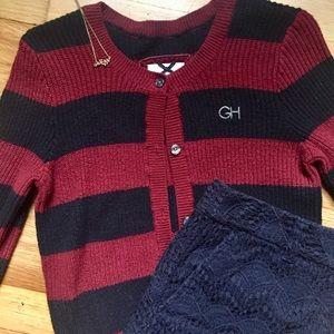 Golly Hicks Cropped 3/4 Sleeve Sweater Size Medium